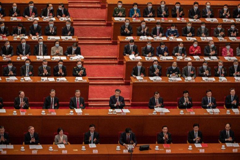 中国国家主席习近平在北京今年3月召开的全国人大闭幕式上。