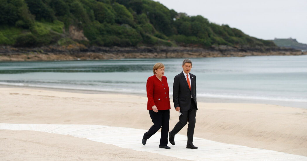 Angela Merkel Makes a Low-Key Farewell at the G7 Summit