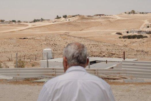 Maigal al-Hawashleh, one of the founders of Al-Ghara village last week.