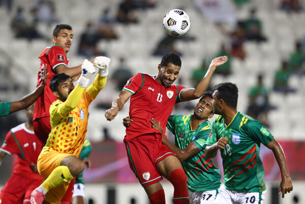 A World Cup qualifying match between Bangladesh and Oman, held in Doha, Qatar, on June 15.