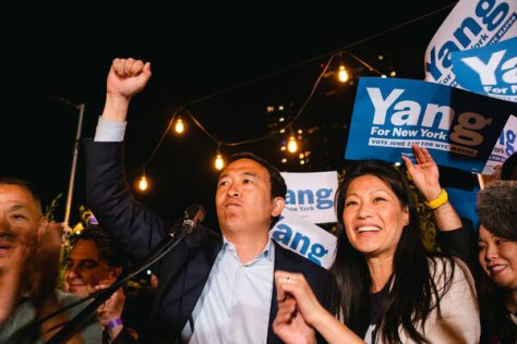 """""""I am not going to be the next mayor of New York City,'' Mr. Yang told supporters on Tuesday night."""