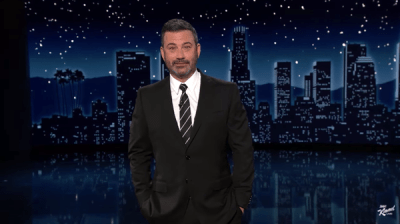 """""""Little did I know, I'm up here goofing on him, he's asking the feds to do who the hell knows what?"""" Jimmy Kimmel said Tuesday in response to reports that former President Donald Trump sought to stop comedians from making fun of him."""