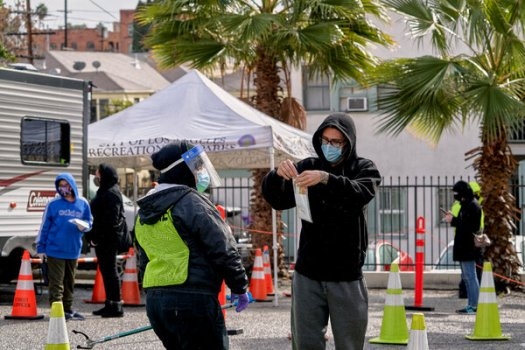 A coronavirus testing site in Los Angeles in January.A study reinforced findings that the scope of contagion in America was much broader than data suggested early in the pandemic.