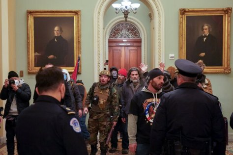 A pro-Trump mob breached the Capitol building on Jan. 6.