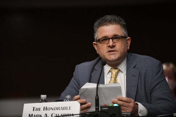 Mark Calabria, director of the Federal Housing Finance Agency Director, testified on Capitol Hill last June.