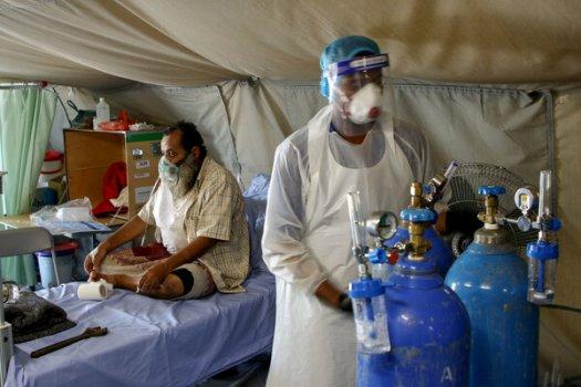A coronavirus quarantine center in Aden, Yemen.