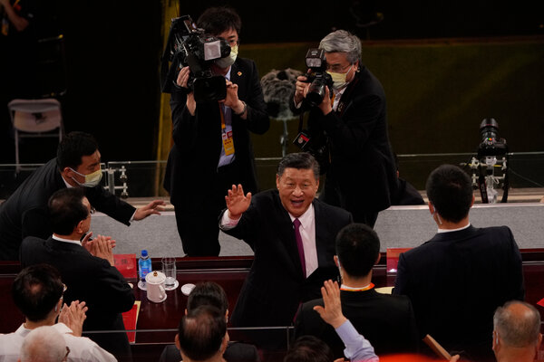 Xi Jinping, China's leader, center,is the country's most powerful leader since Deng or Mao.