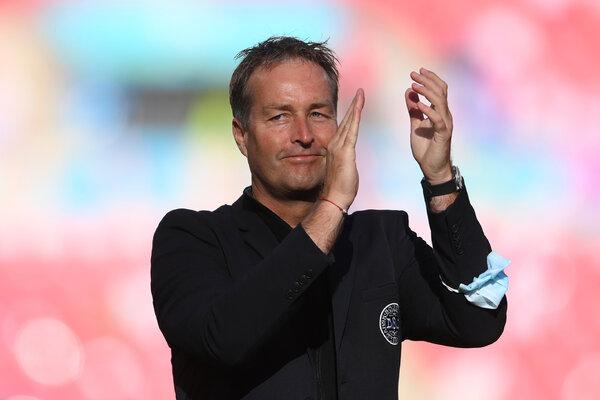 Denmark's coach, Kasper Hjulmand.