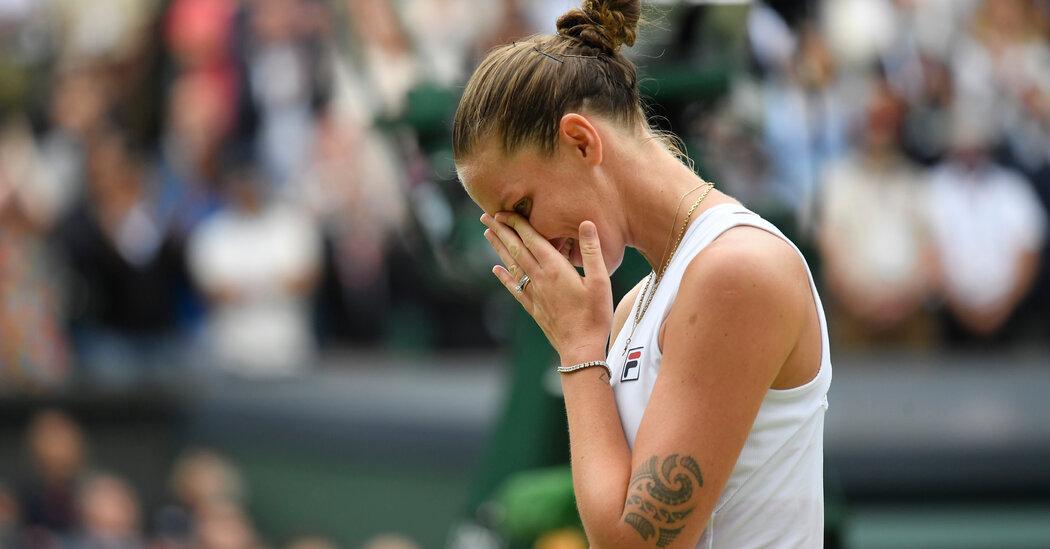 In Wimbledon Loss, Karolina Pliskova Sees a Silver Lining