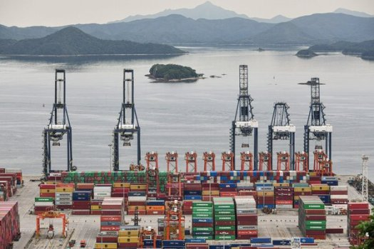 Cargo containers stacked at Yantian Port in Shenzhen, China, last month.