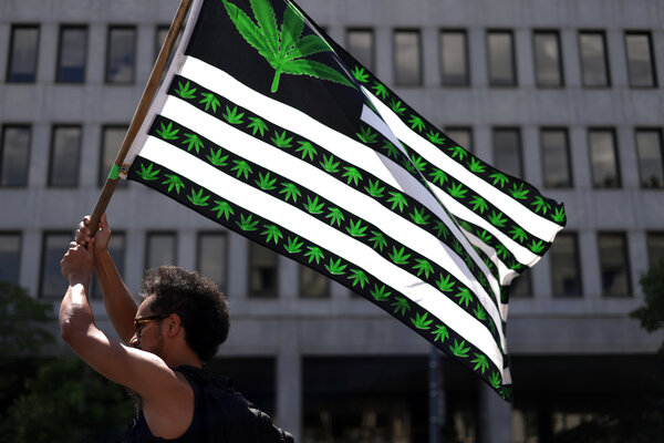 Advocates for the legalization of marijuana marched in Washington on the Fourth of July.