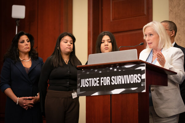 Senator Kirsten Gillibrand introduced the Vanessa Guillén Military Justice Improvement and Increasing Prevention Act on Capitol Hill last month.
