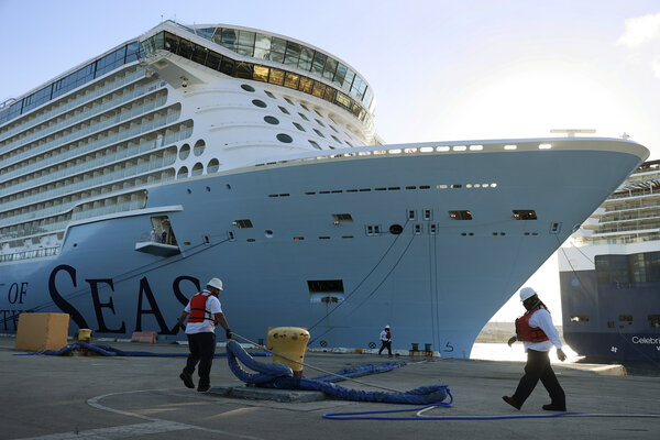 A passenger cruise ship at Port Everglades in Fort Lauderdale, Fla., last week.