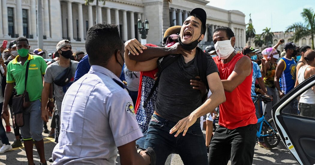 U.S. Sanctions Cuba for Crackdowns on Protesters