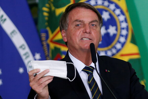 President Jair Bolsonaro of Brazil has disparaged vaccines and the use of face masks.