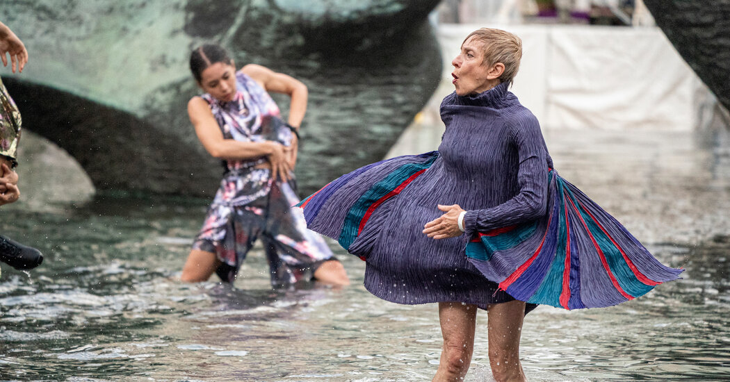 Review: In 'You Are Here,' Dancing and Splashing at Lincoln Center