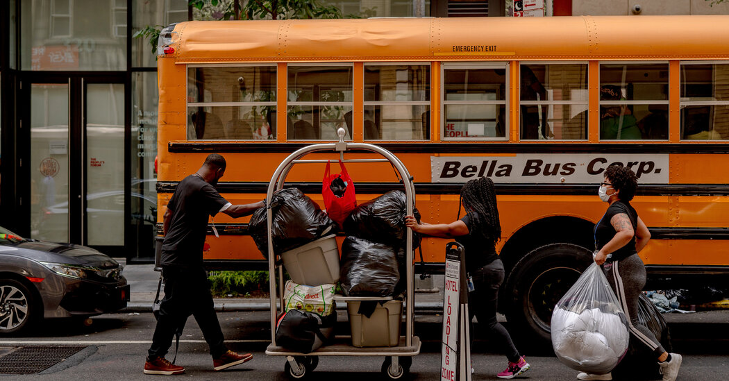 Homeless People Are Moved From Midtown Hotels Back to Shelters