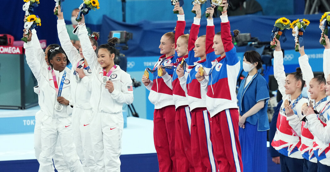 After Simone Biles's Stunning Withdrawal, Russia Wins Gold Medal
