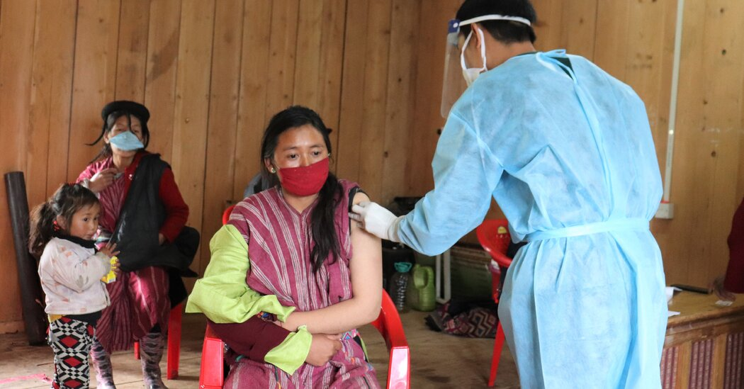 Against the odds, tiny Bhutan rolls out a second round of mass vaccinations.