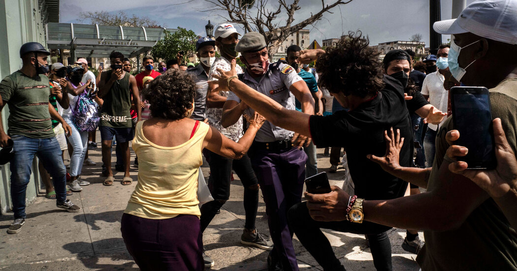 'Terror': Crackdown After Protests in Cuba Sends a Chilling Message