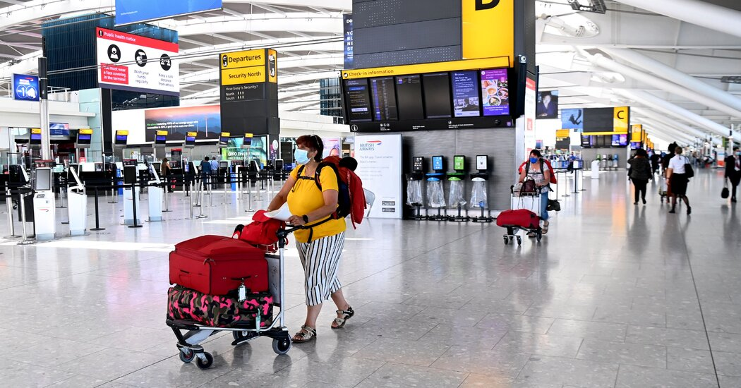 England to Admit Vaccinated U.S. and E.U. Visitors Without Quarantine