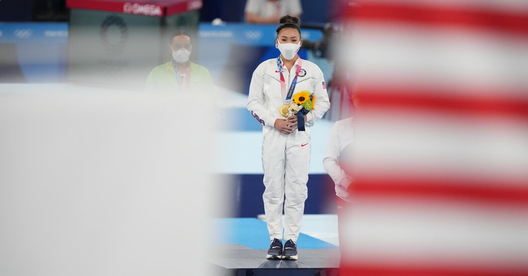 With Biles Out, Sunisa Lee Seizes the Moment and Captures Gold
