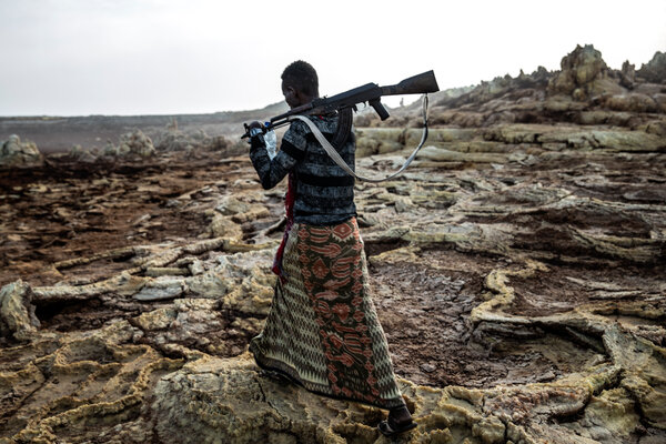 An Afar militia fighter in 2019. Ethiopia's government this month called on civilians in Afar to take up arms against rebels from neighboring Tigray.