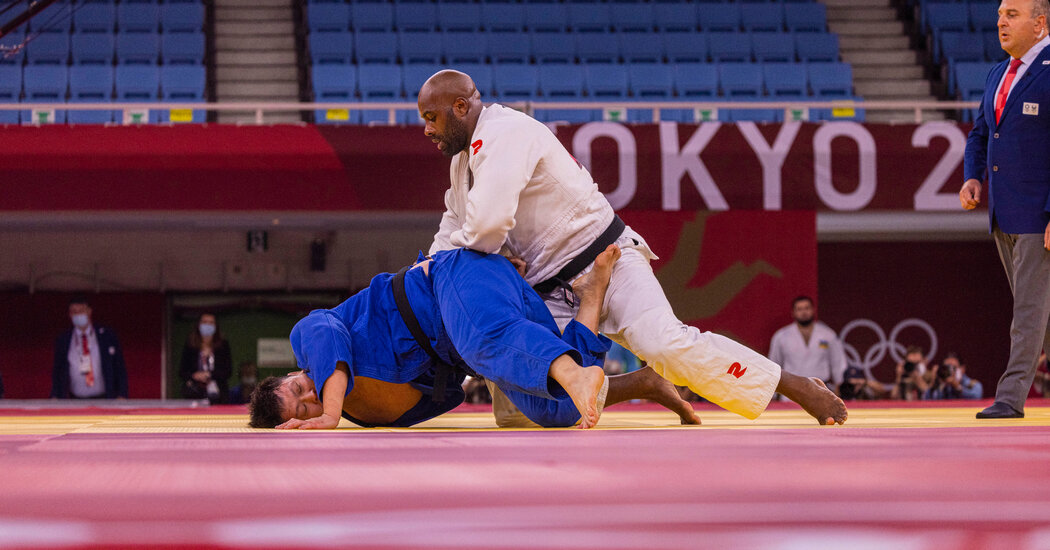 A French judo legend falls short of a third consecutive Olympic gold, settling for bronze instead.