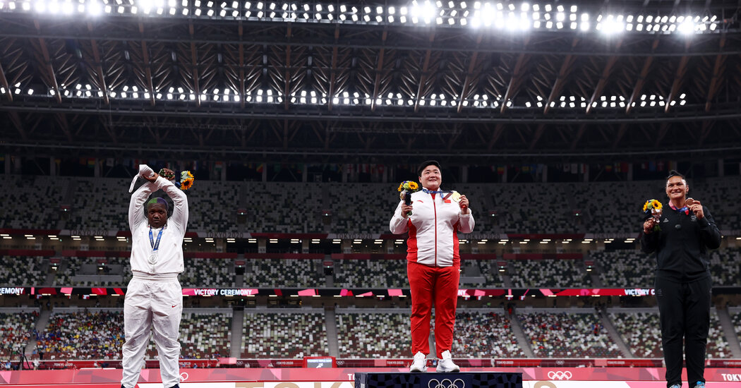 Shot Putter's Gesture Renews Controversy over Podium Protests