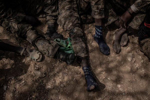 Many Ethiopian soldiers held by the Tigrayans had their boots confiscated, as well as their guns.
