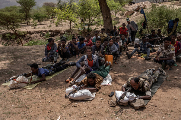 Rebel recruits received training in the mountains southwest of Mekelle. The recruits included doctors, university professors and members of the diaspora.