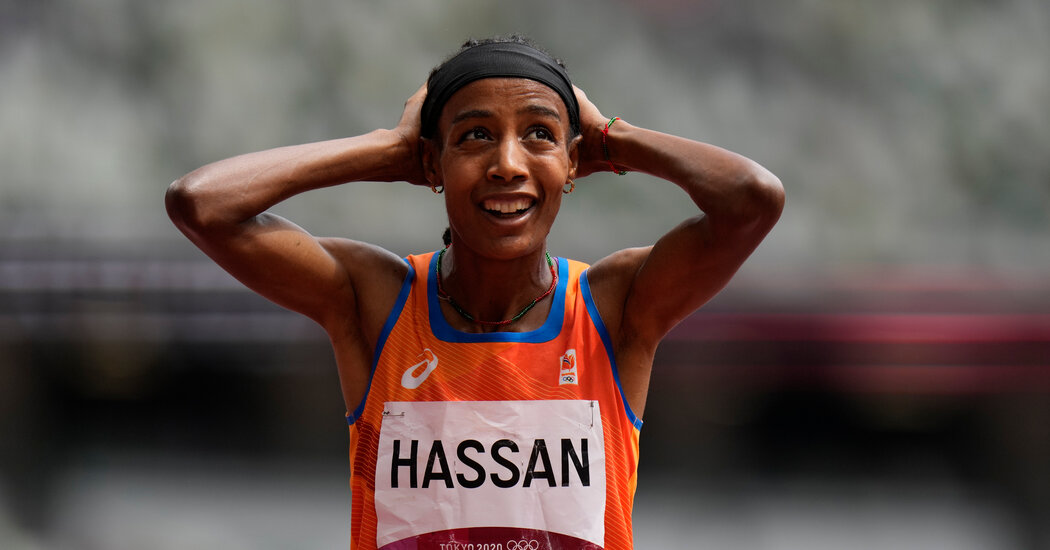 Sifan Hassan wins the 5,000 meters. Onto the next one.