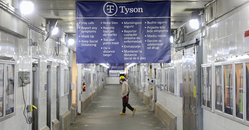 Tyson Foods mandates vaccines for its U.S. work force.