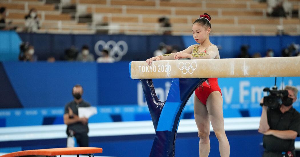 Simone Biles Takes Bronze on Balance Beam. Guan Chenchen Wins Gold.