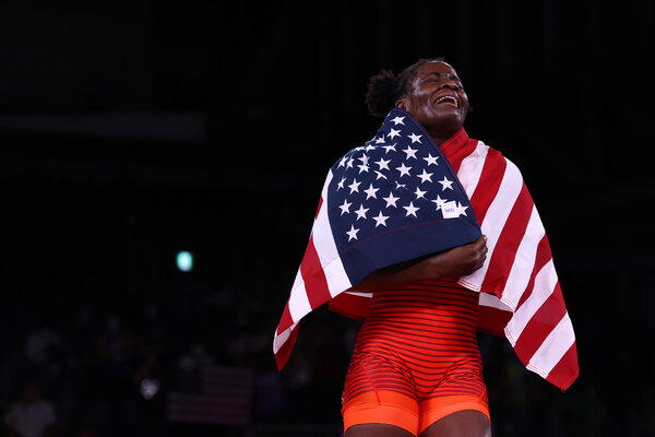 Tamyra Mensah-Stock became the second American woman to win a wrestling gold medal.