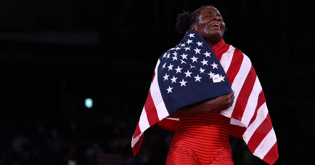 Tamyra Mensah-Stock Becomes First Black Woman to Win a Wrestling Gold