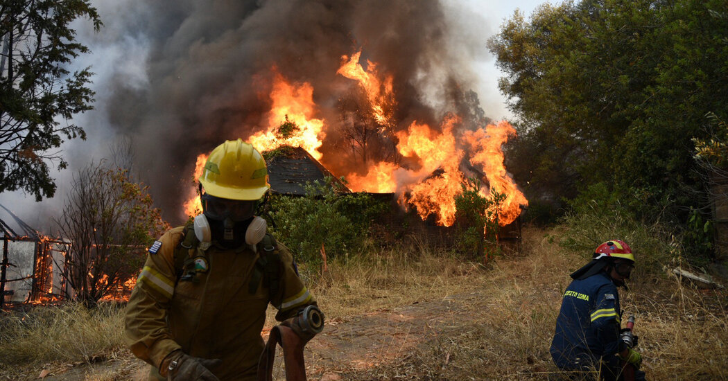 Wildfires in Greece Force Thousands to Evacuate
