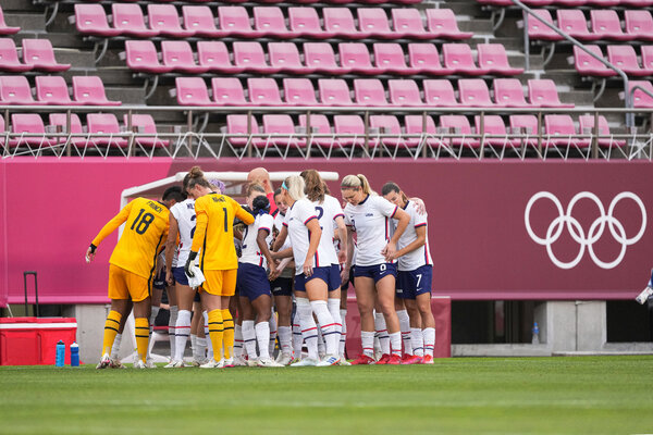 The U.S. women's soccer team, once a tournament favorite, now hopes to win the bronze medal game.