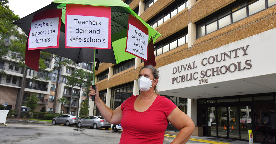 Some School Districts Are Defying State Bans on Mask Mandates