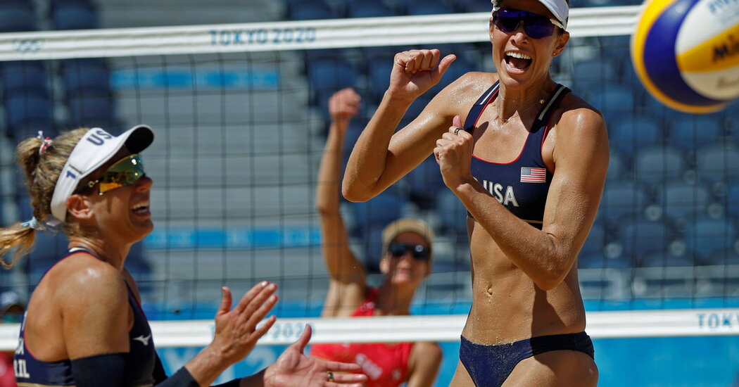 April Ross and Alix Klineman Go for Gold in Beach Volleyball