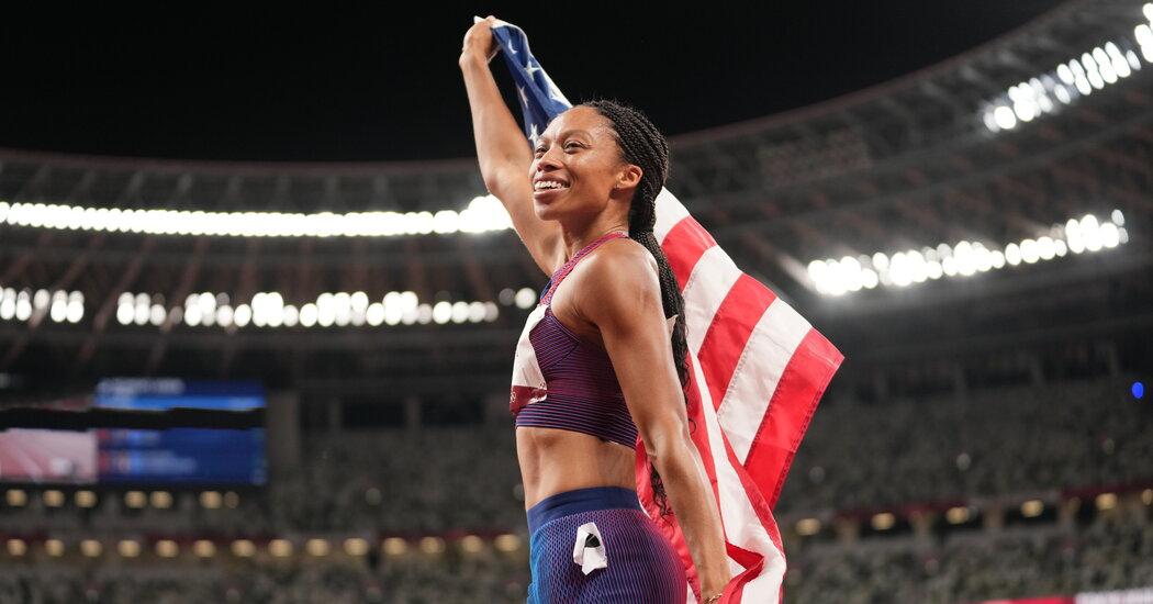 Allyson Felix Has Joy, and a Tenth Olympic Medal.