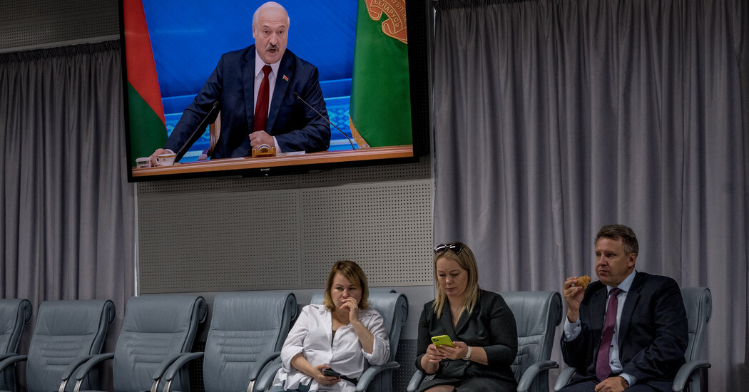 Belarus Leader Lashes Out at the West, a Year After Crushing Protests