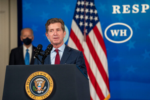 Alex Gorsky, the chief executive of Johnson & Johnson since 2012, at the White House in March. He will leave the post in January.