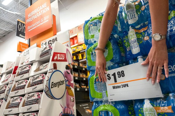 Emergency preparedness officials recommend storing a gallon of water per person per day in case a hurricane like Henri damages the water system.