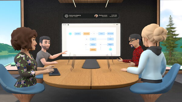 Facebook introduced a service this month called Workrooms, a virtual meeting room.
