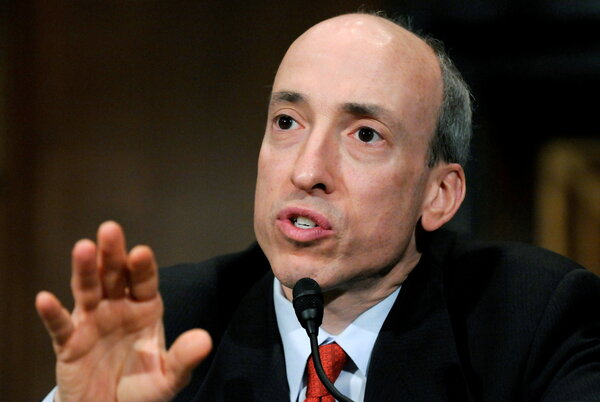 """Gary Gensler, the chair of the Securities and Exchange Commission. He called a key way that free brokerages make money """"an inherent conflict of interest."""""""