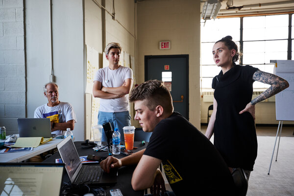 """""""With the pandemic and labor shortages — the fact that for once we're not totally disposable, they need us — it was the perfect time,"""" said Alexis Rizzo, right, a shift supervisor at a Starbucks in the Buffalo area."""