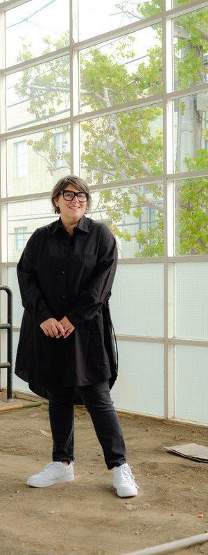Ali Gass, no espaço que abrigará o ICA San Francisco. Ela será a diretora do novo museu.