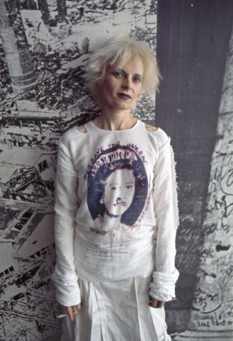 Vivienne Westwood at her Seditionaries boutique in 1977.