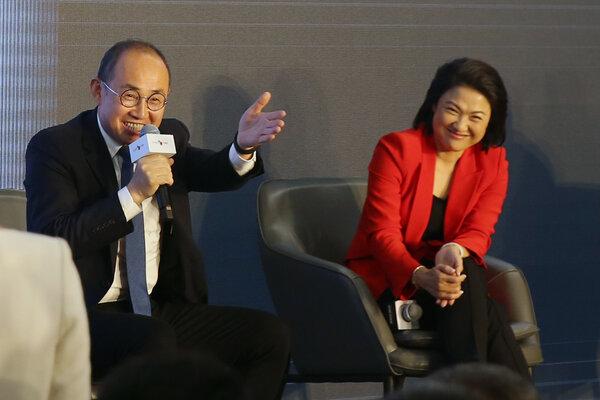 Pan Shiyi, chairman of Soho China, and his wife, Zhang Xin, the chief executive, in 2019.